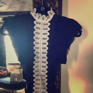 Anne Fontaine Couture Collar/Top-Unusual